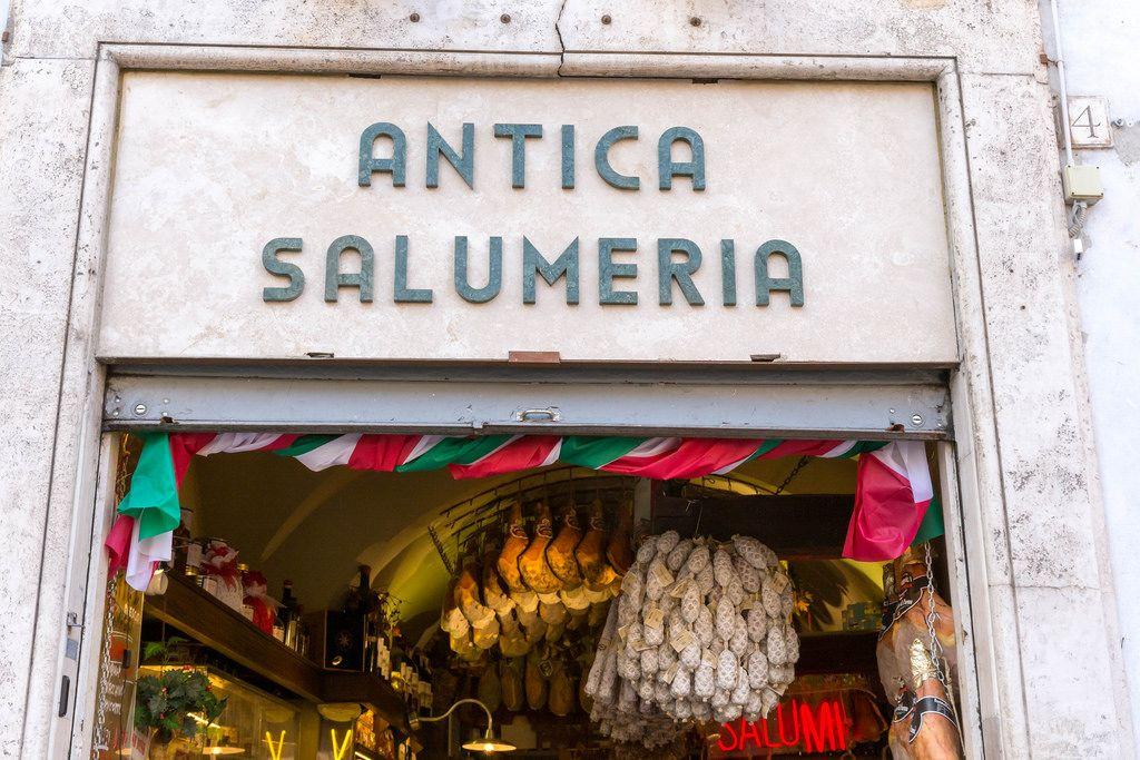 Antica Salumeria - italienischer Wurstwarenverkäufer in Rom