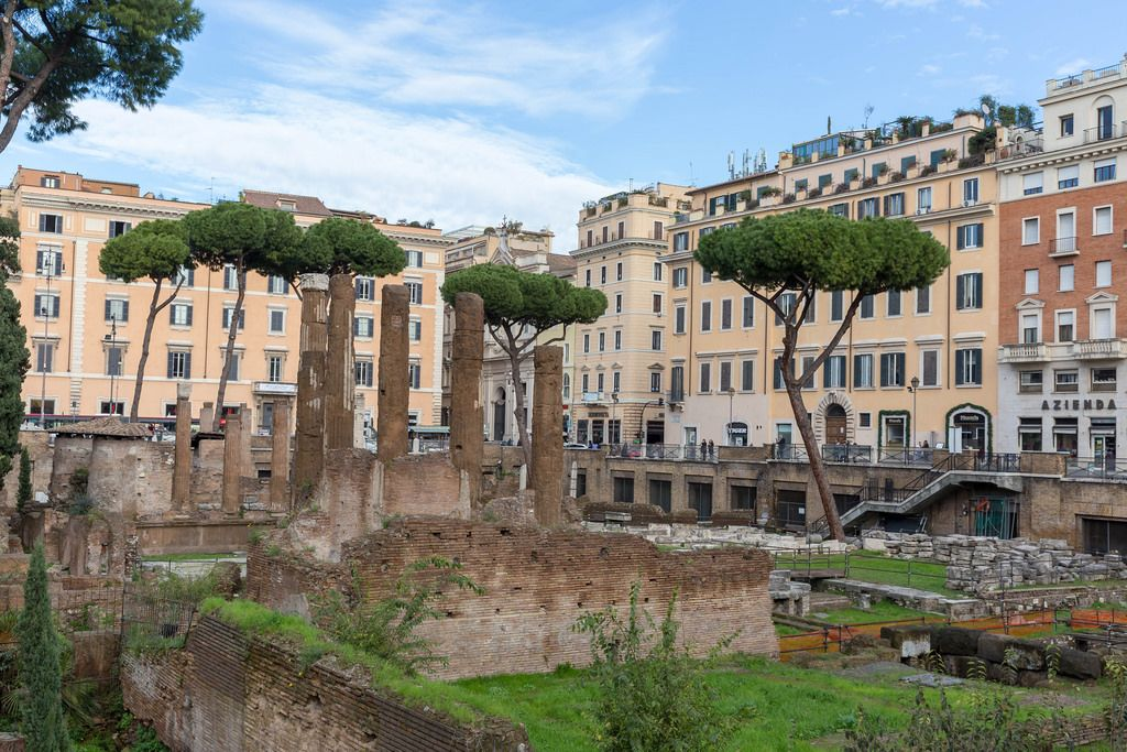 Antike Ruinen in Rom - Largo di Torre Argentina