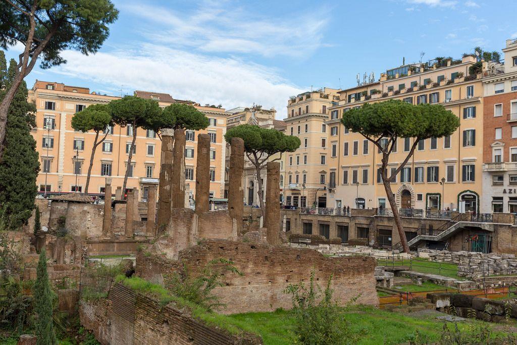 Antique ruins in Rome - Largo di Torre Argentina