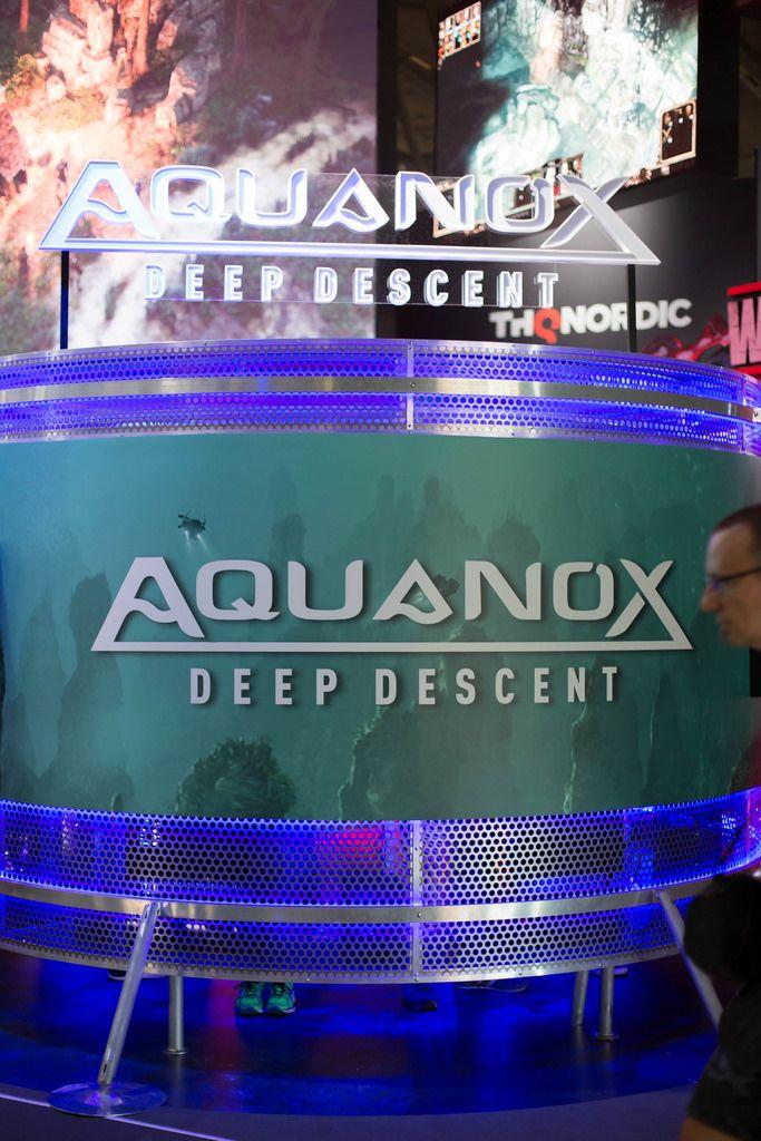 Aquanox Deep Descent an dem Messestand von THQ Nordic