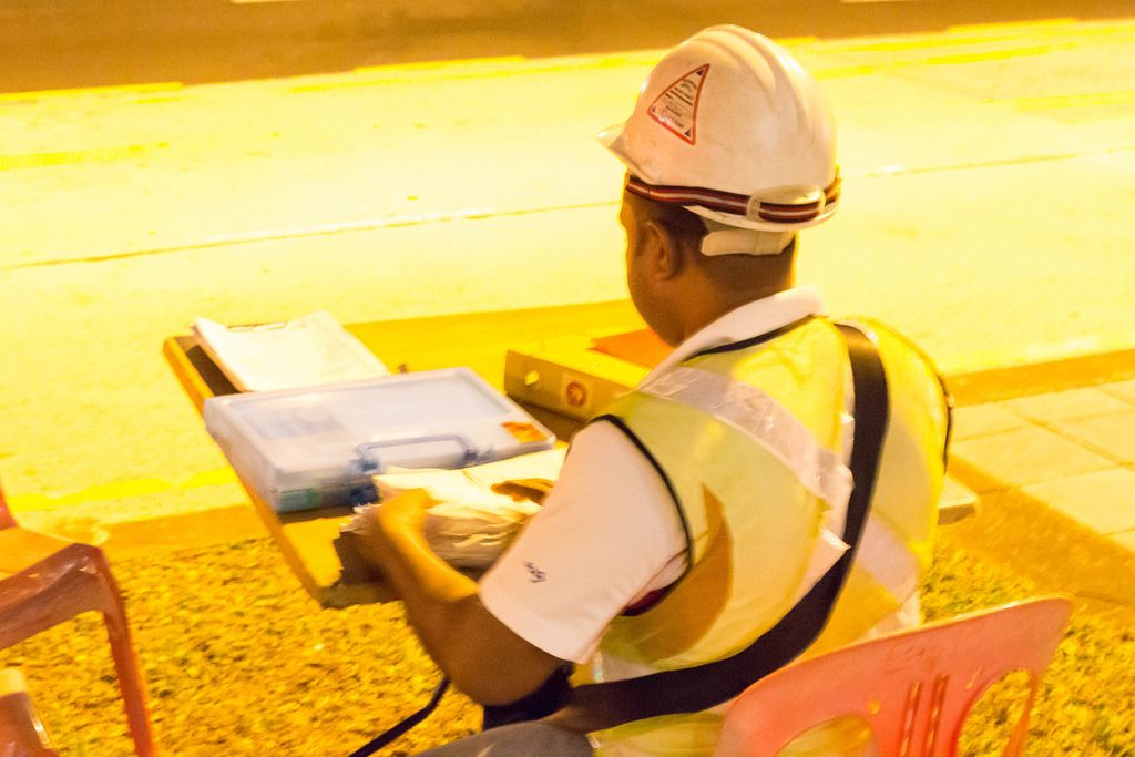 Arbeiter in Singapur