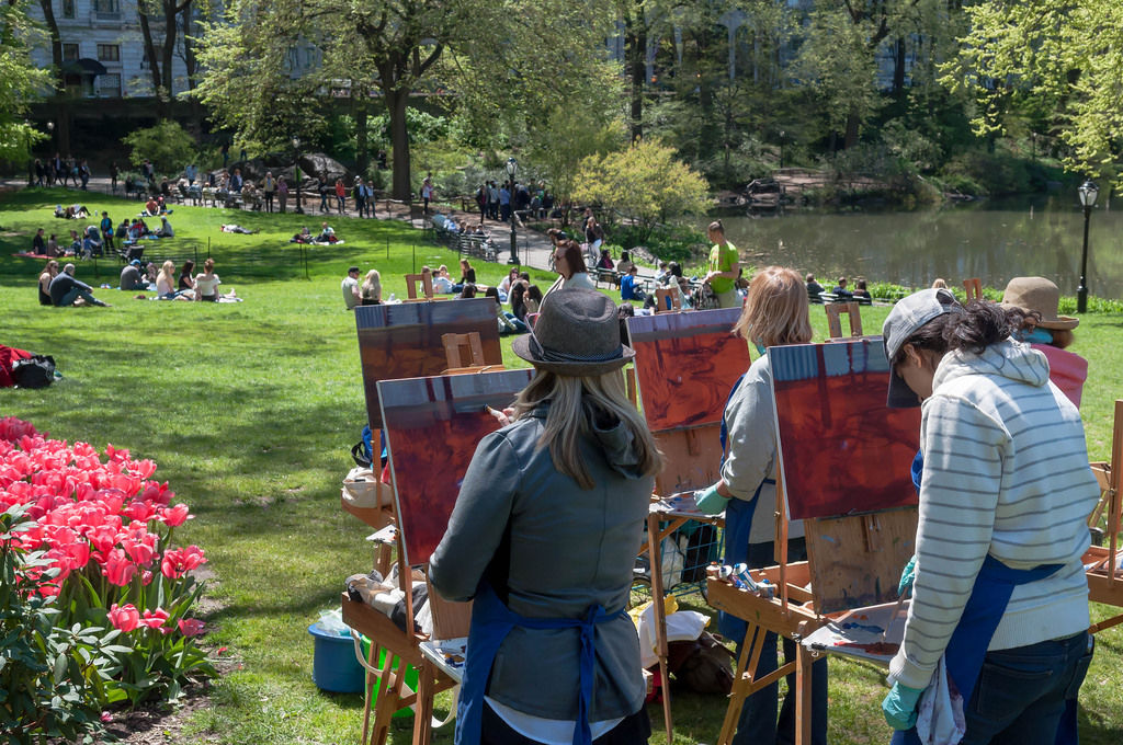 Artists in Central Park New York