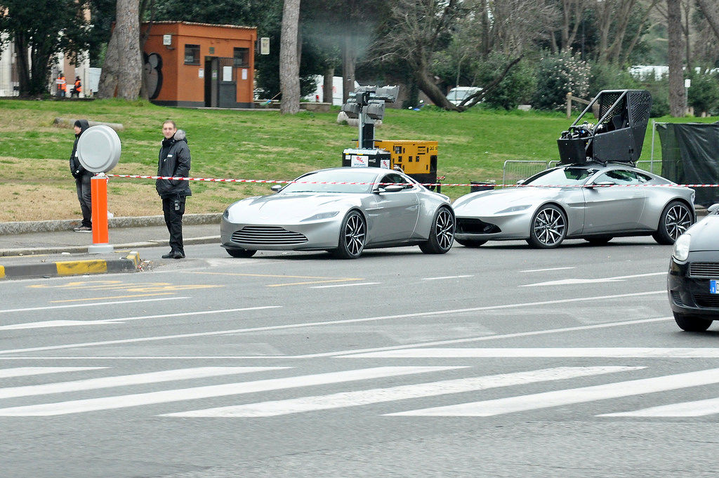 Aston Martin DB10 aus James Bond: Spectre (Dreharbeiten)