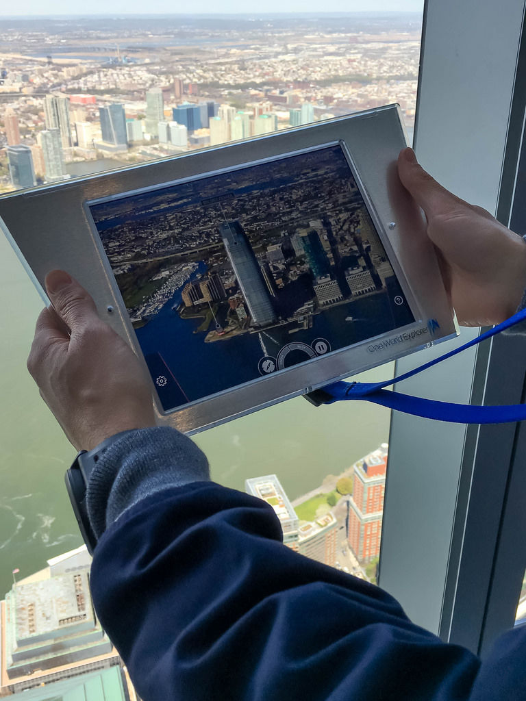 Augmented Reality Tour on observatory of World Trade Center