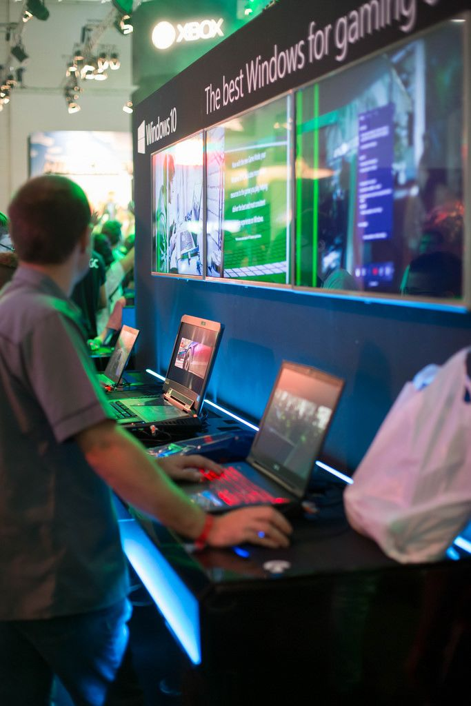 Ausstellung von Windows 10 bei der Gamescom 2017