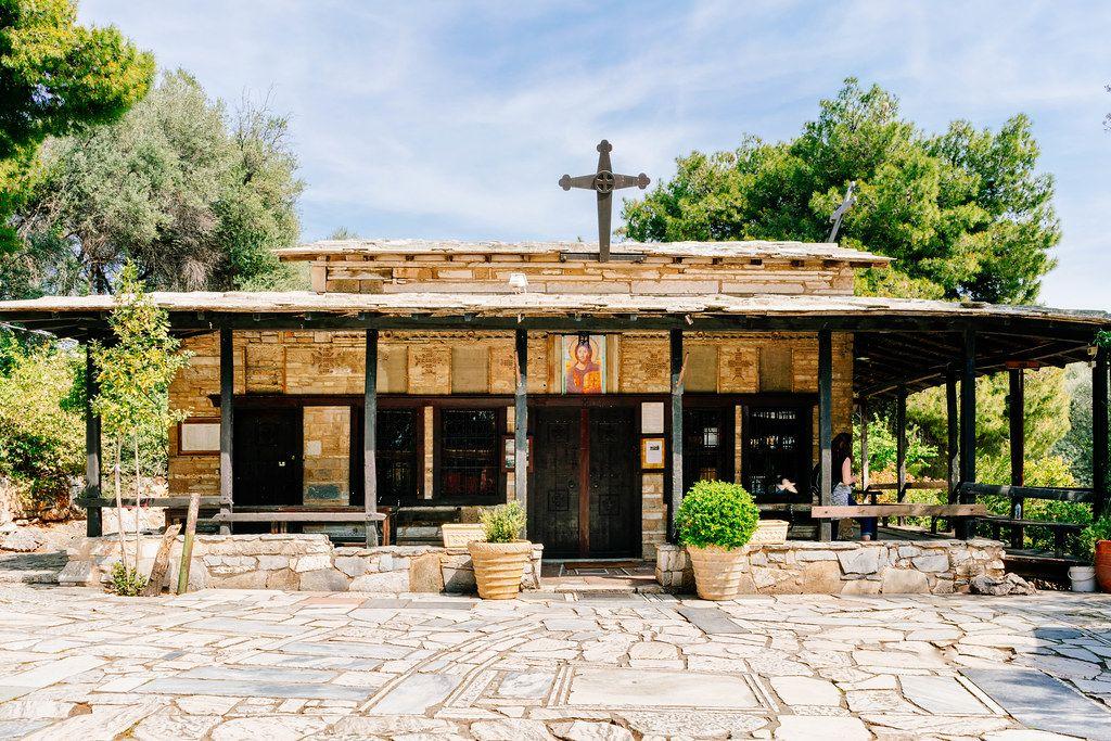 Authentic Greek mini church in Athens, Greece