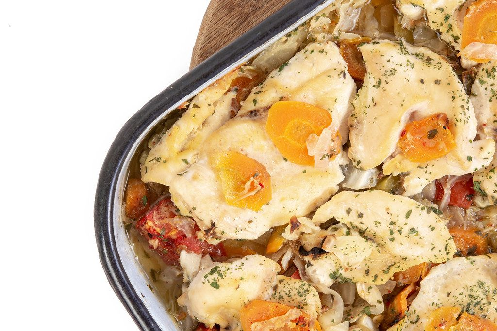 Baked Chicken Breasts with Carrots