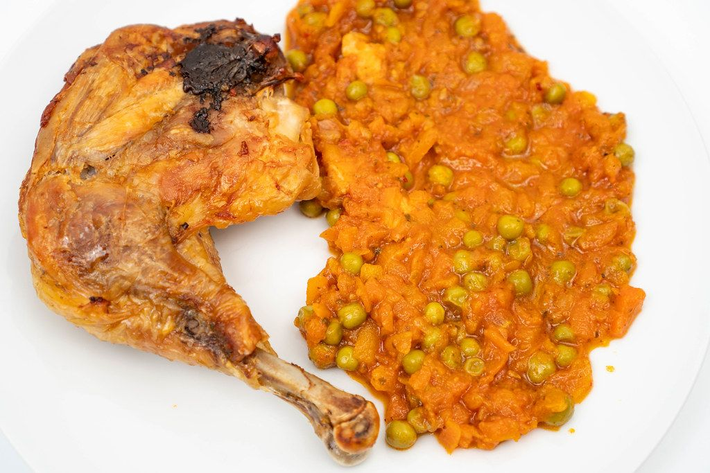 Baked Chicken Drum with Tomato Stew
