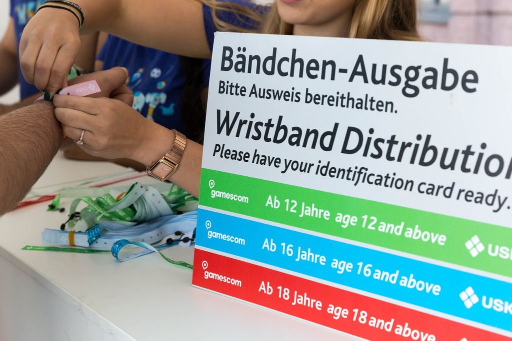 Bändchen-Ausgabe - Gamescom 2017, Köln