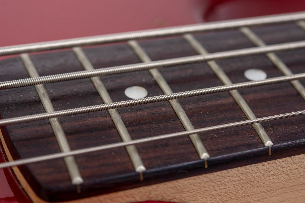 Bass Guitar Neck with Strings