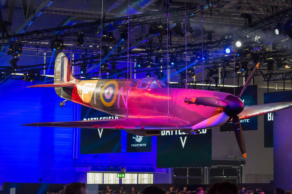 Battlefield V Flugzeug auf der Gamescom