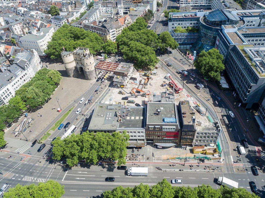 Baustelle Rudolfplatz Köln im August 2017
