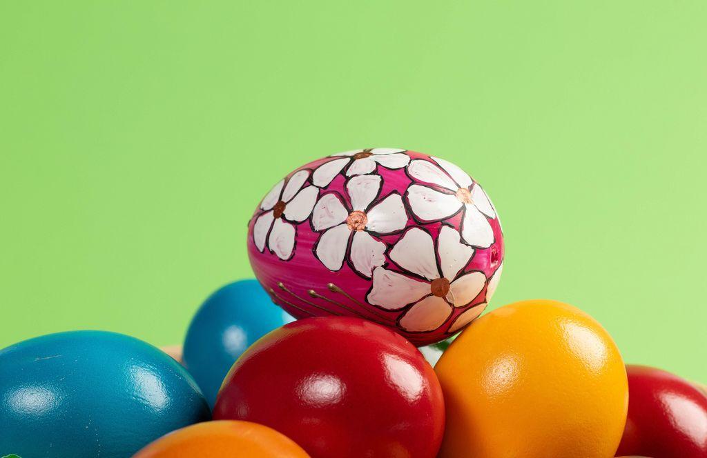 Beautiful handmade painted Easter egg