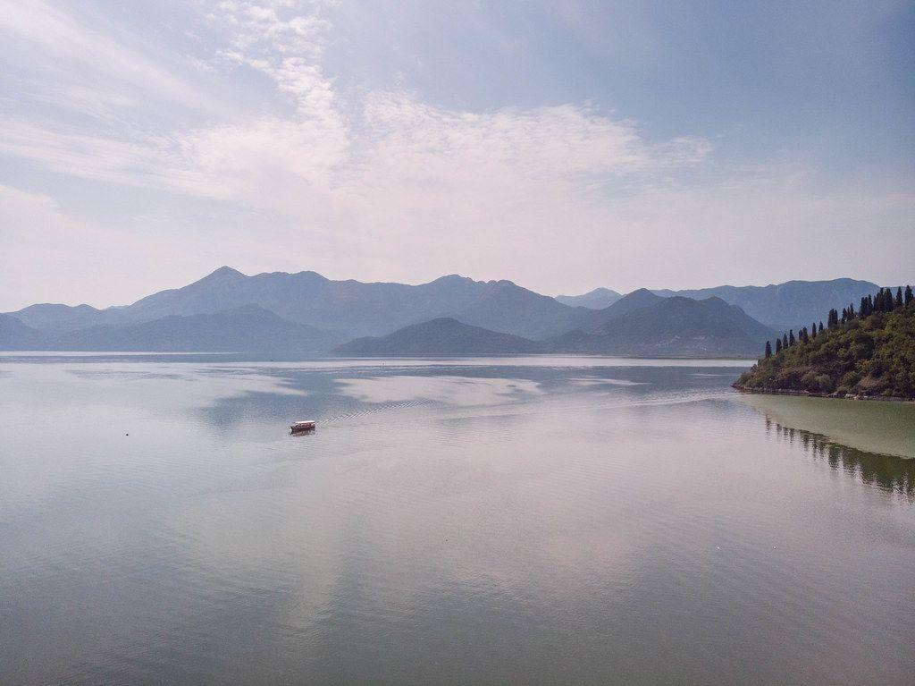 Beautiful scenic view of Skadar lake in Montenegro