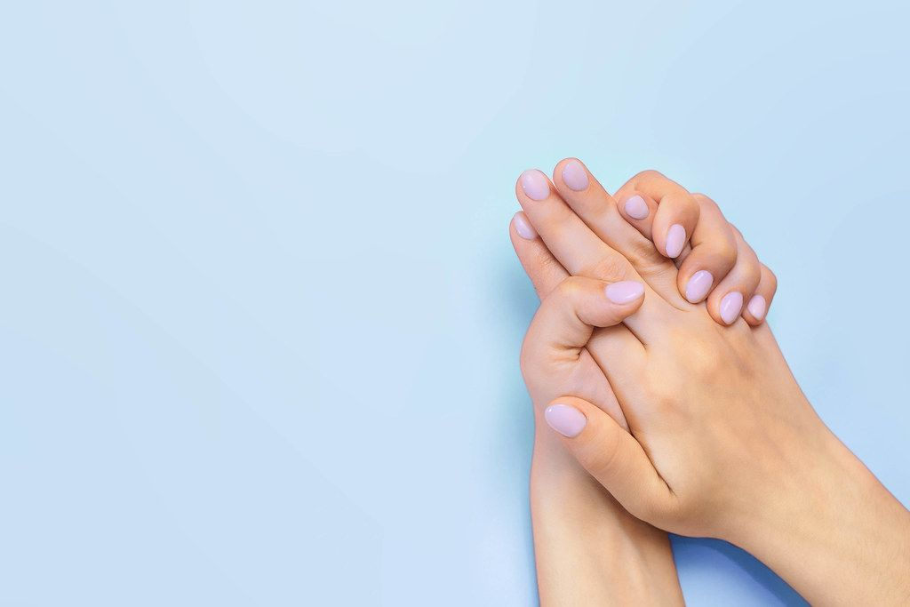 Beautiful woman hands. Spa and manicure concept
