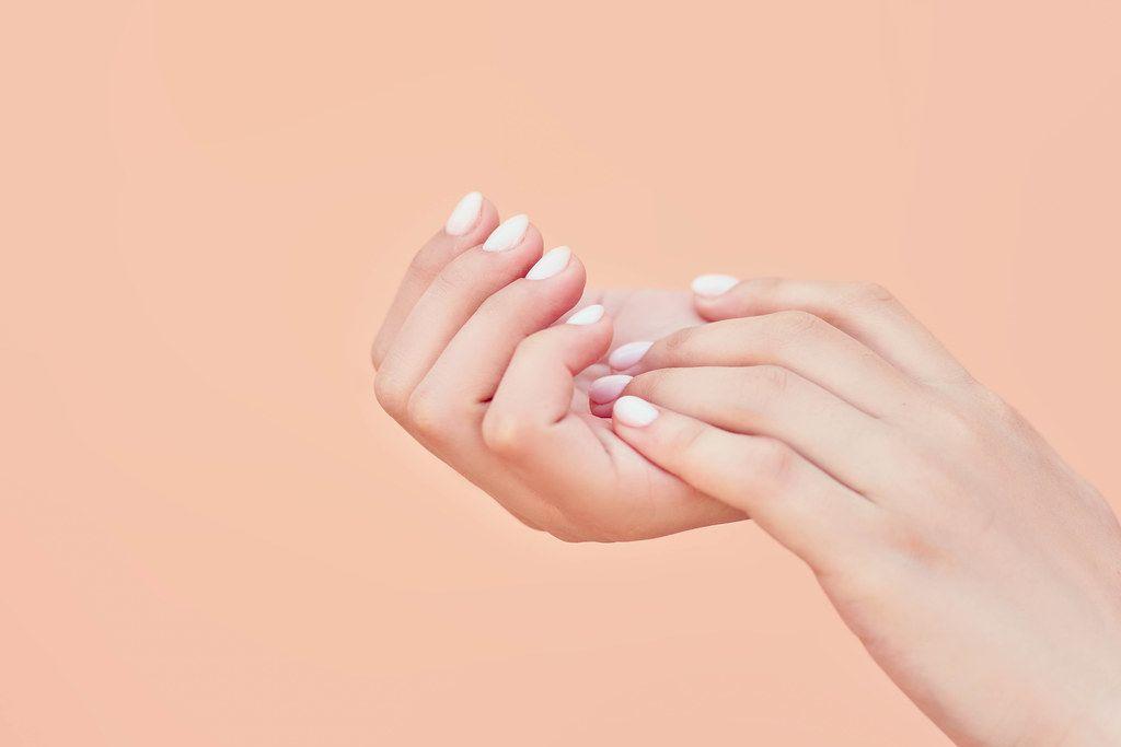 Beauty elegant female hands with manicure (Flip 2020)