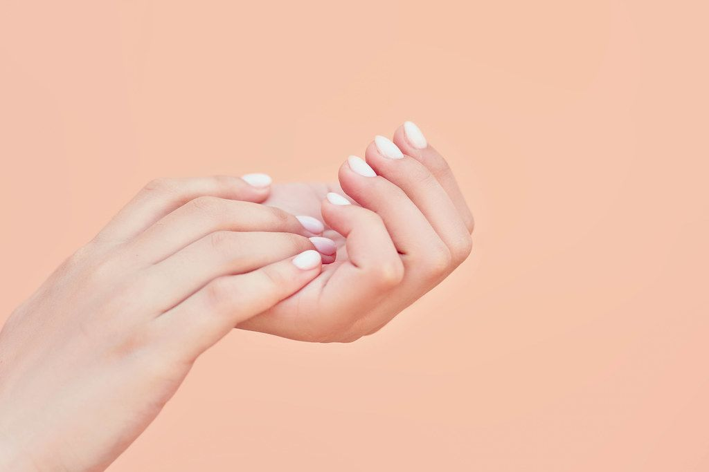 Beauty elegant female hands with manicure