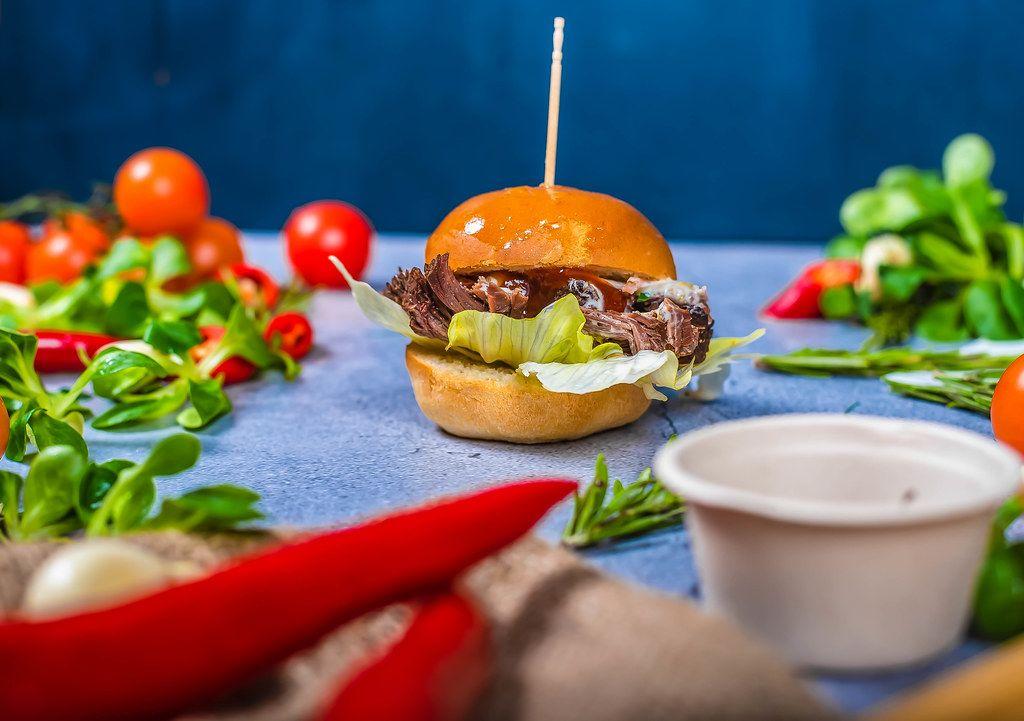 Beef Burger With Veggies