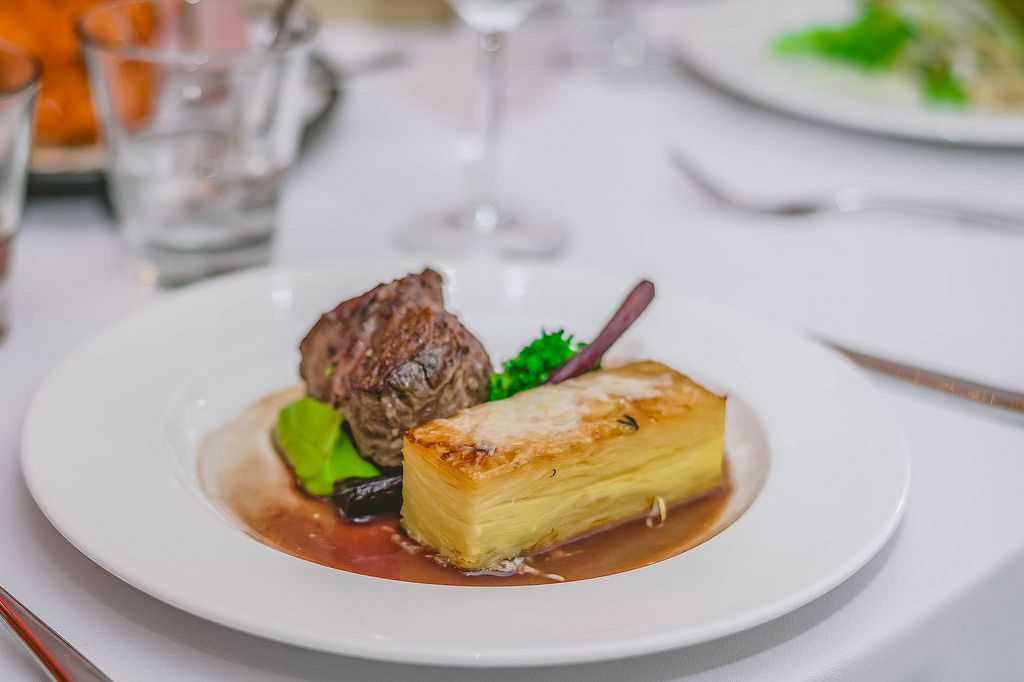 Beef Fillet and potato with Sauce