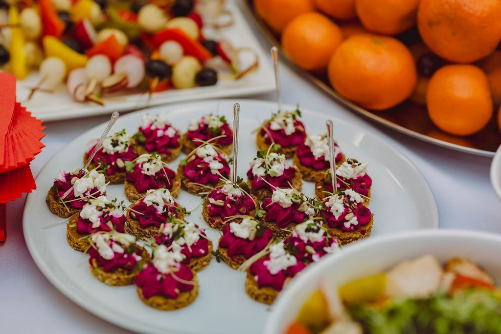 Beet Cream Canape Appetizers