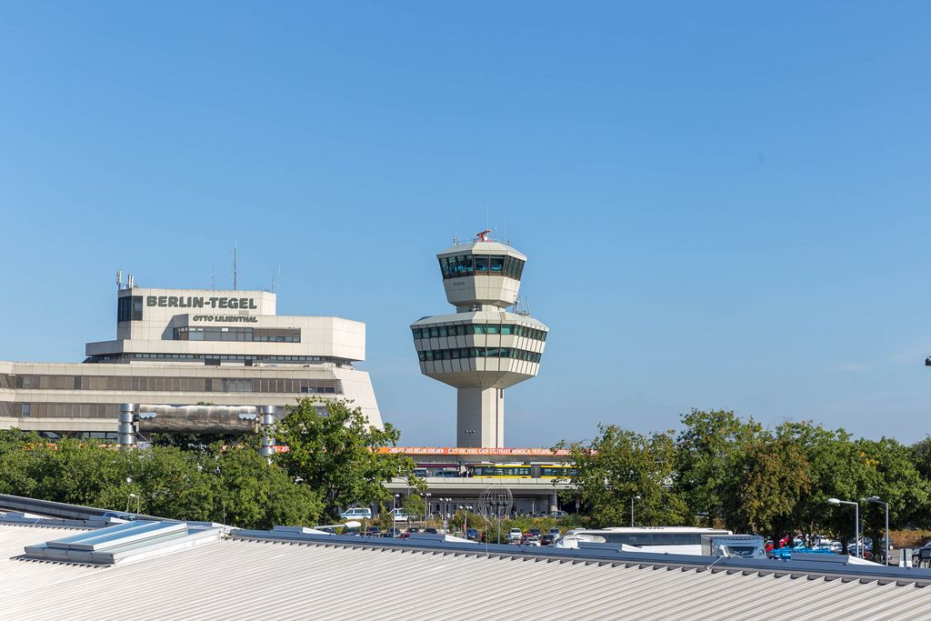 Berlin Tegel Airport with control tower