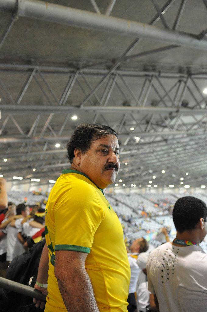 Besorgter brasilianischer Fußball-Fan - Fußball-WM 2014, Brasilien