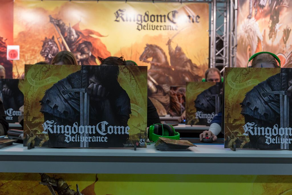 Besucher spielen Kingdom Come: Deliverance