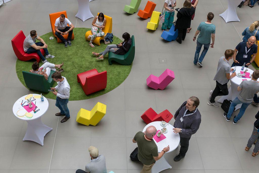 Besucherbereich beim Barcamp 2018 Koblenz