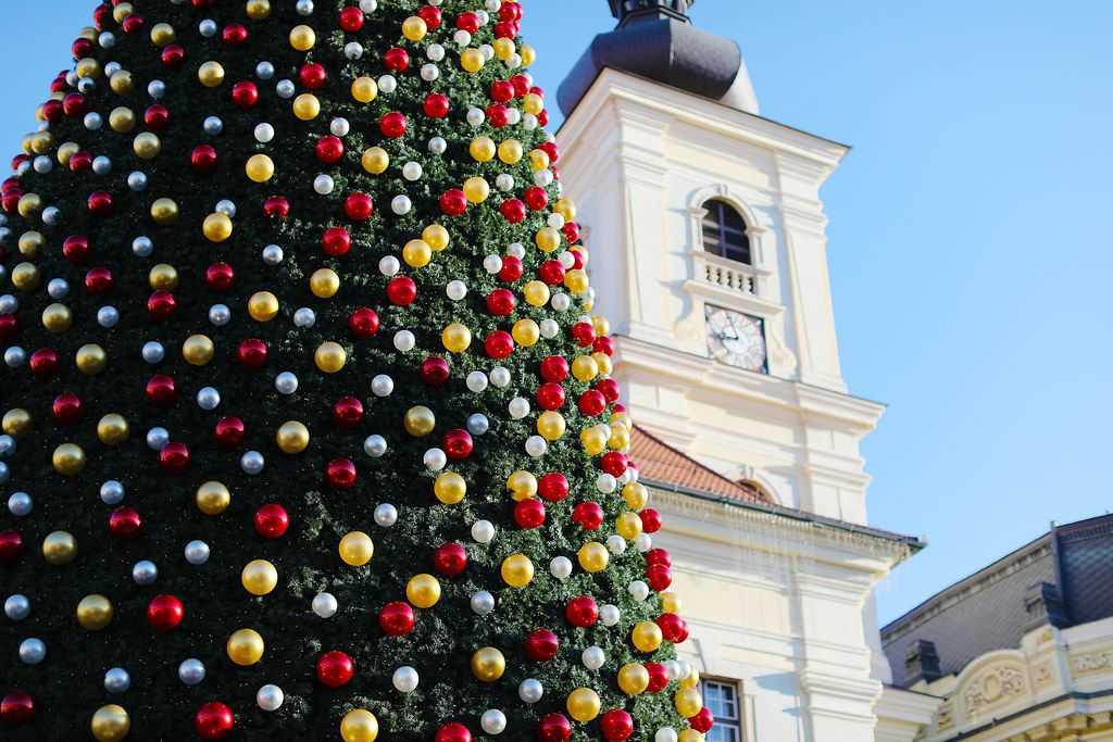Big Christmas tree in Sibiu Christmas Market (Flip 2019)