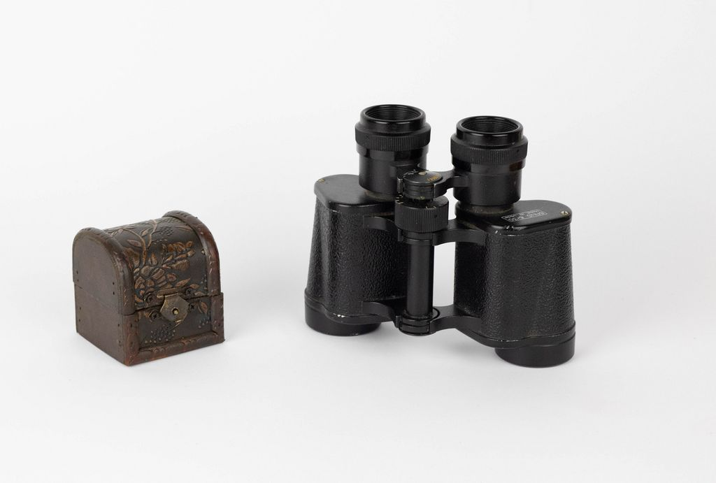 Binoculars with treasure