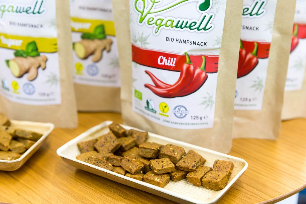 Bio-Hanfsnack mit Chili-Geschmack von Vegawell
