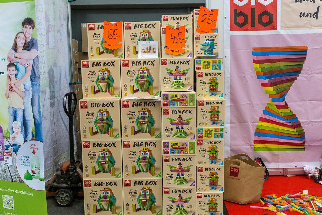 BioBio Stapelspiele BigBox, FunBox und HelloBox auf der Spiel Messe in Essen