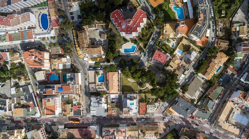 Bird's eye view of Peguera, Mallorca