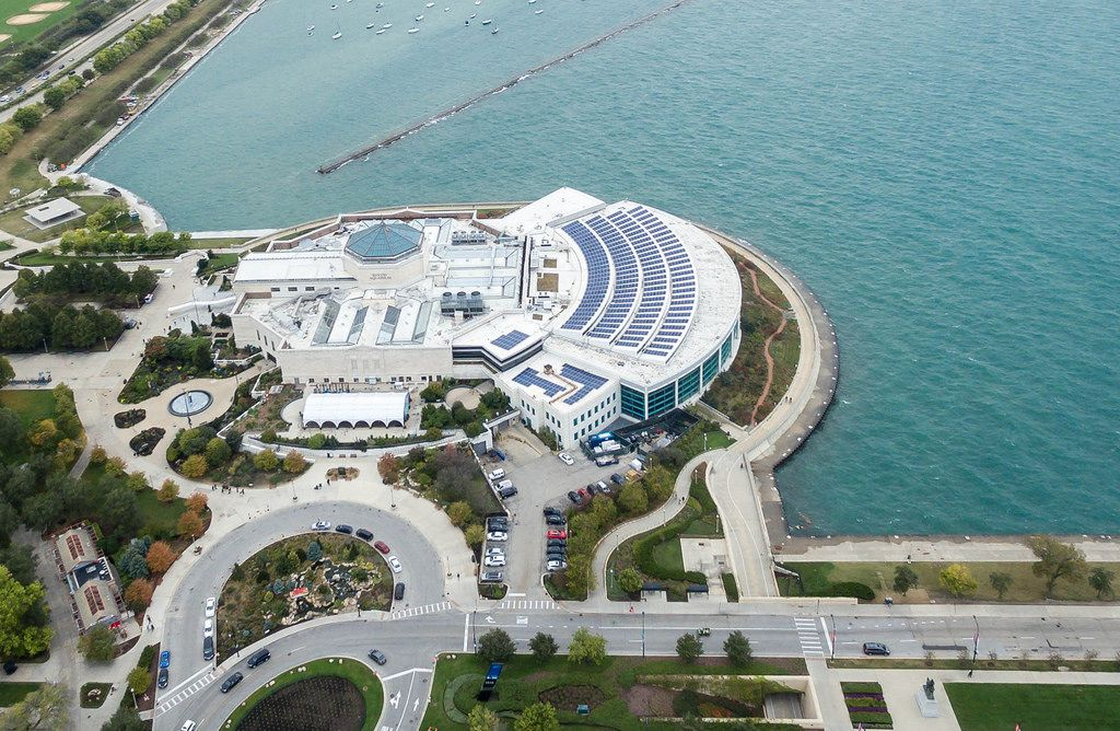 Bird's eye view of Shedd Aquarium