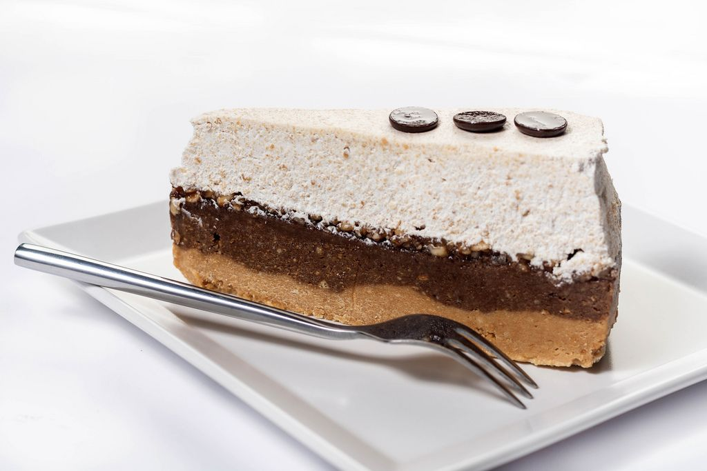 Biscuit Cake with Chocolate and Whipped Cream