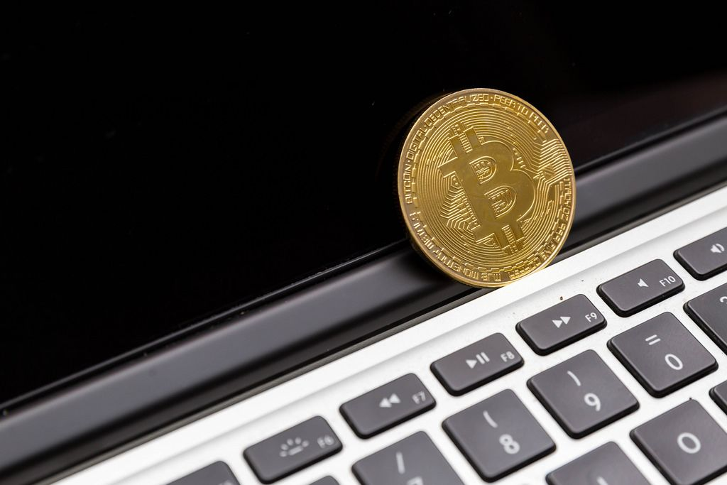 Bitcoin auf einem Macbook