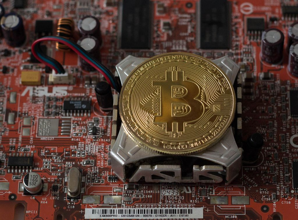 Bitcoin auf einer Grafikkarte