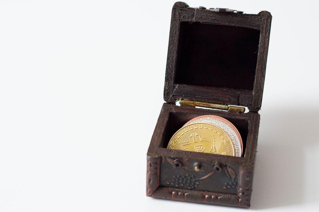 Bitcoin in a treasure