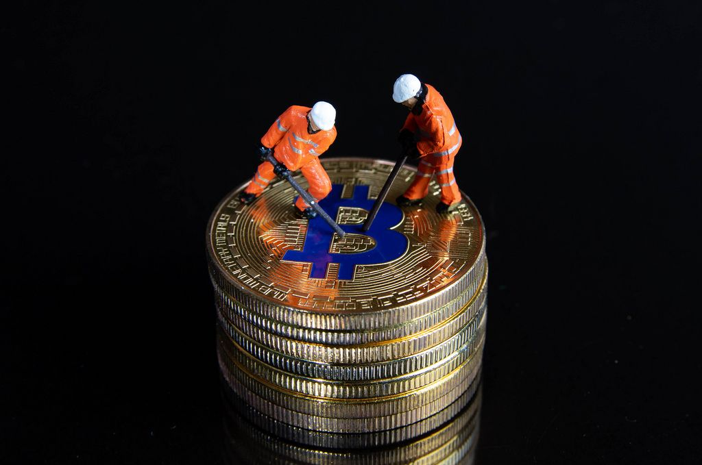 Bitcoin mining by miniature workers