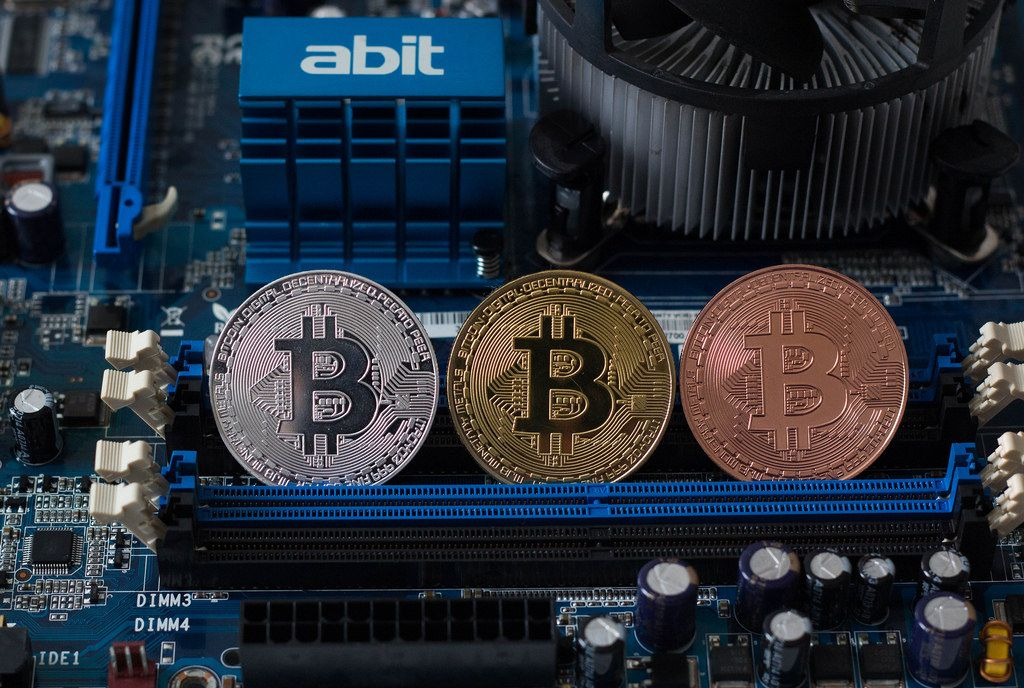 Bitcoins with computer parts