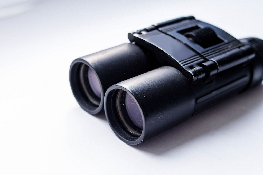 Black binoculars, close up