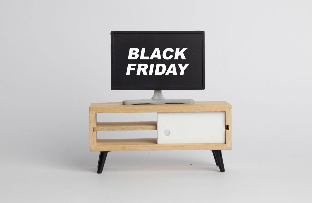 Black Friday text on screen
