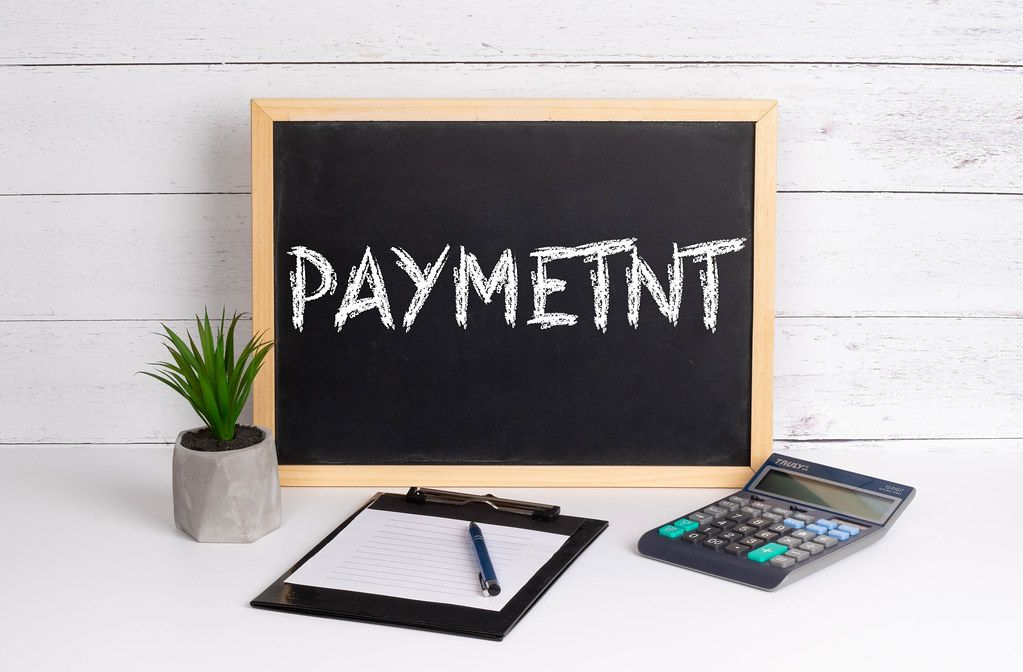 Blackboard with Payment text
