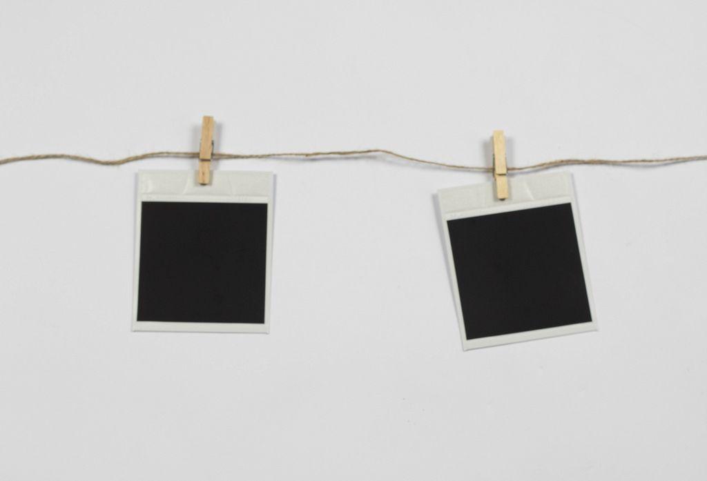 Blank polaroid photo frames on line