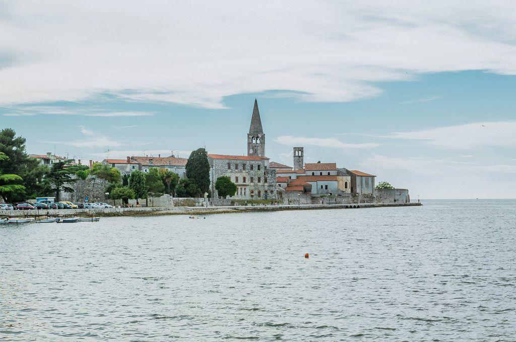 Blick auf die Altstadt von Poreč, Kroatien