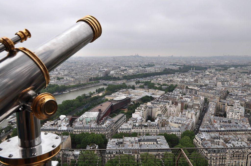 Blick auf die Seine vom Eiffelturm