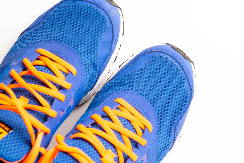 Blue Sport Shoes isolated above white background
