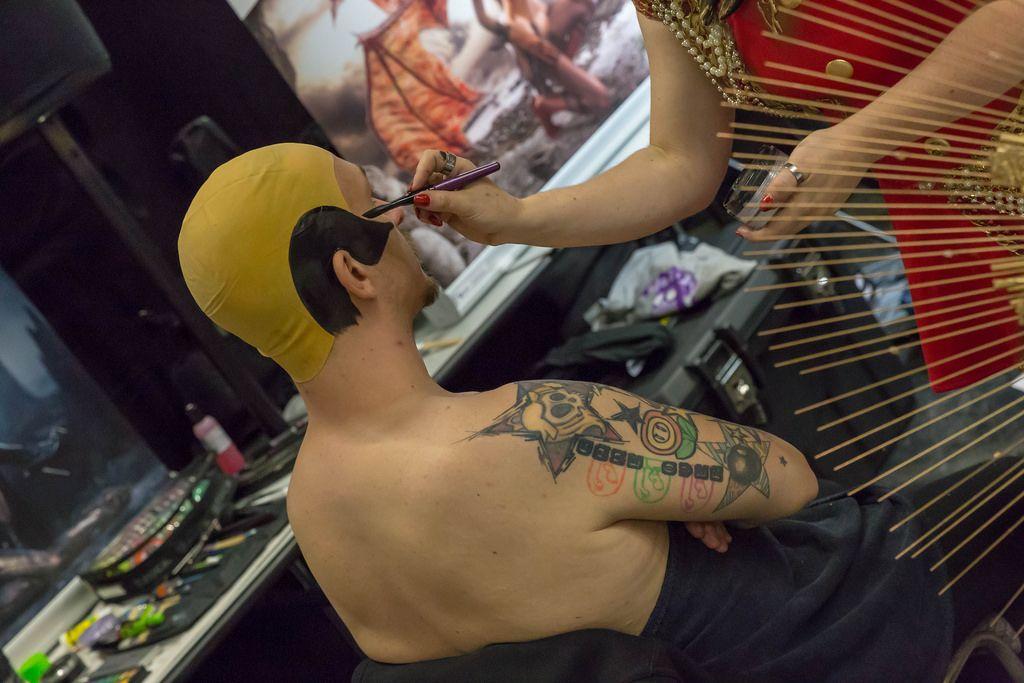 Body painting für Cosplay