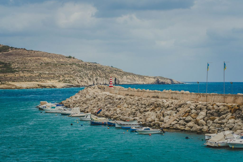 Boote vor der Insel Gozo