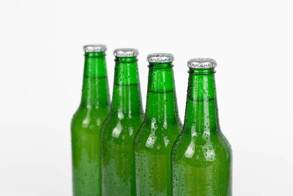 Bottles of beer lined up
